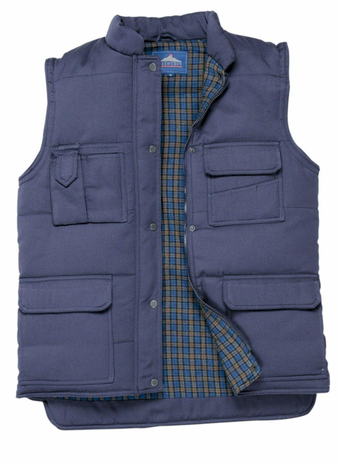 mens gilet bodywarmer zip up hunting vest