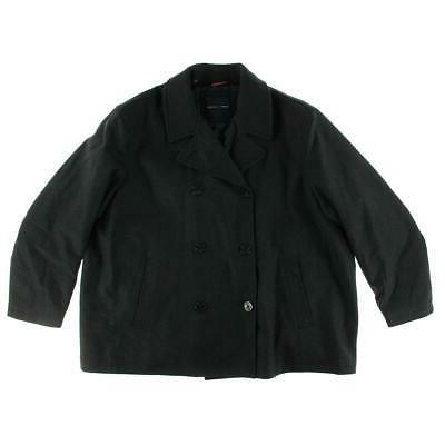 mens gray wool outerwear pea coat jacket