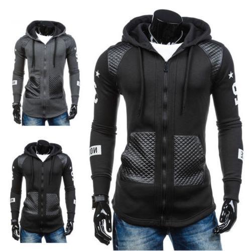 Mens Jacket Hooded Tops