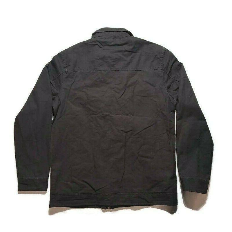 Wenven Mens Jacket Long Sleeves Zipper 100% Cotton New