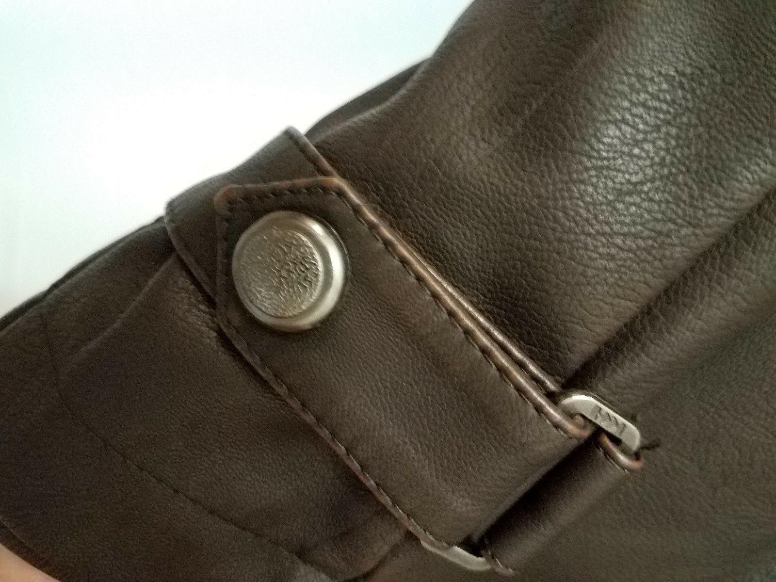 chouyatou Mens Coffee Brown Vintage Faux Leather L