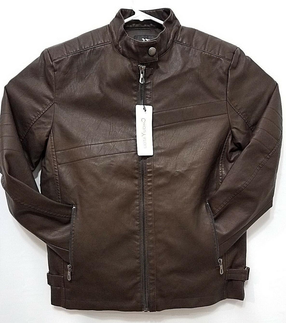 mens jacket coffee brown vintage stand collar