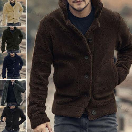 Button Sweatshirt Fleece Jacket