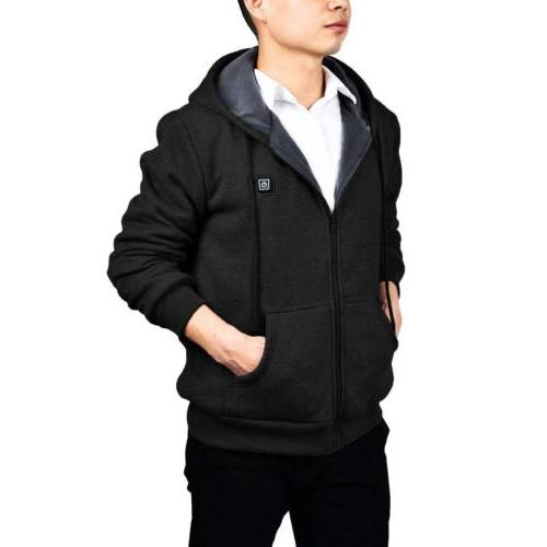 Mens Hoodie Thermal Slim Sweatshirt