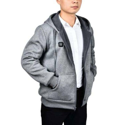 Mens Hoodie Thermal Slim Hooded US