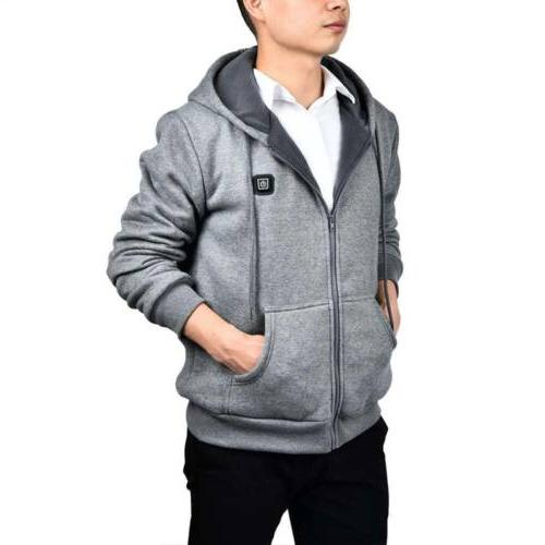 Mens Outwear Sweater Hoodie Coat Jacket Slim Hooded