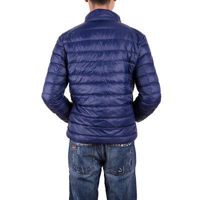Mens Packable Jacket Ultralight Puffer Stand Warm