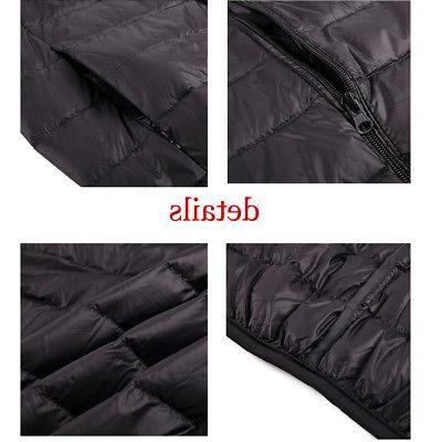 Mens Jacket Ultralight Zipper Stand Warm