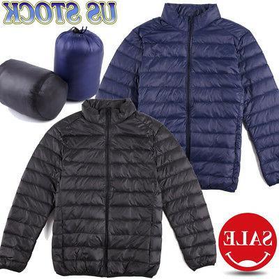 mens packable down jacket ultralight puffer jacket