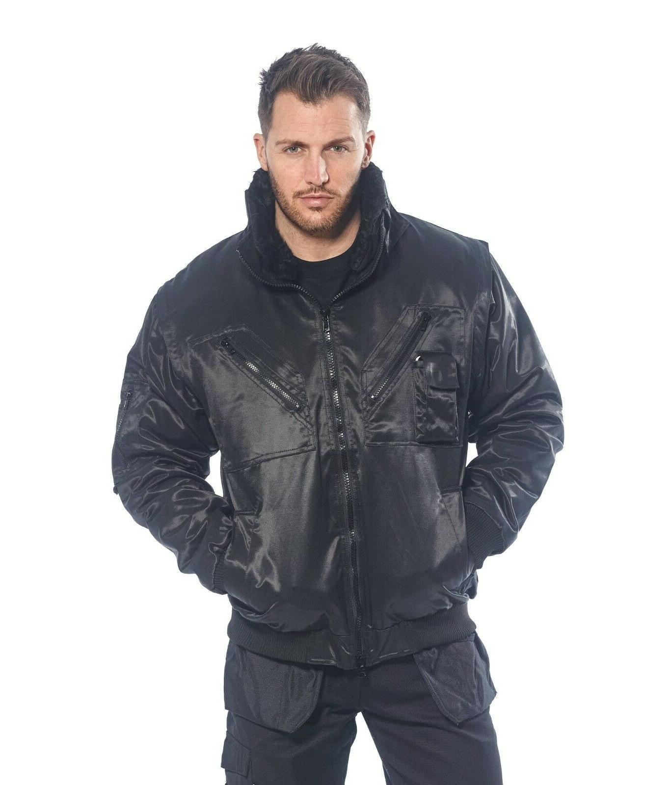 mens pilot work security winter jacket 3in1
