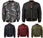 Mens Premium Military Army Reversible Air Force MA-1 Flight