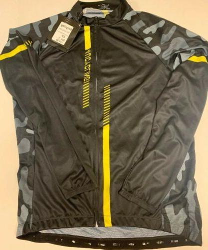 Cycling Jersey Jacket Black Large