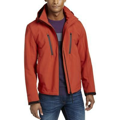 mens red coat soft shell jacket outerwear