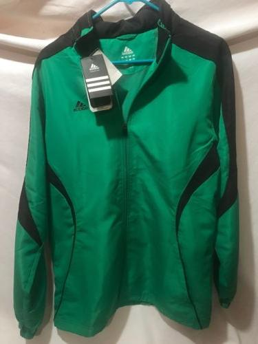 Men's size Small ADIDAS Green Drive Jacket with Hidden Hoo