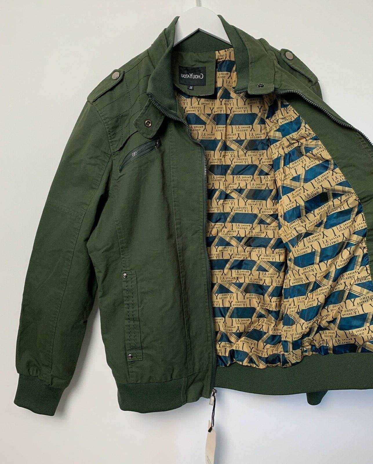 Chouyatou Size Jacket Coat Lined Army Full NWT