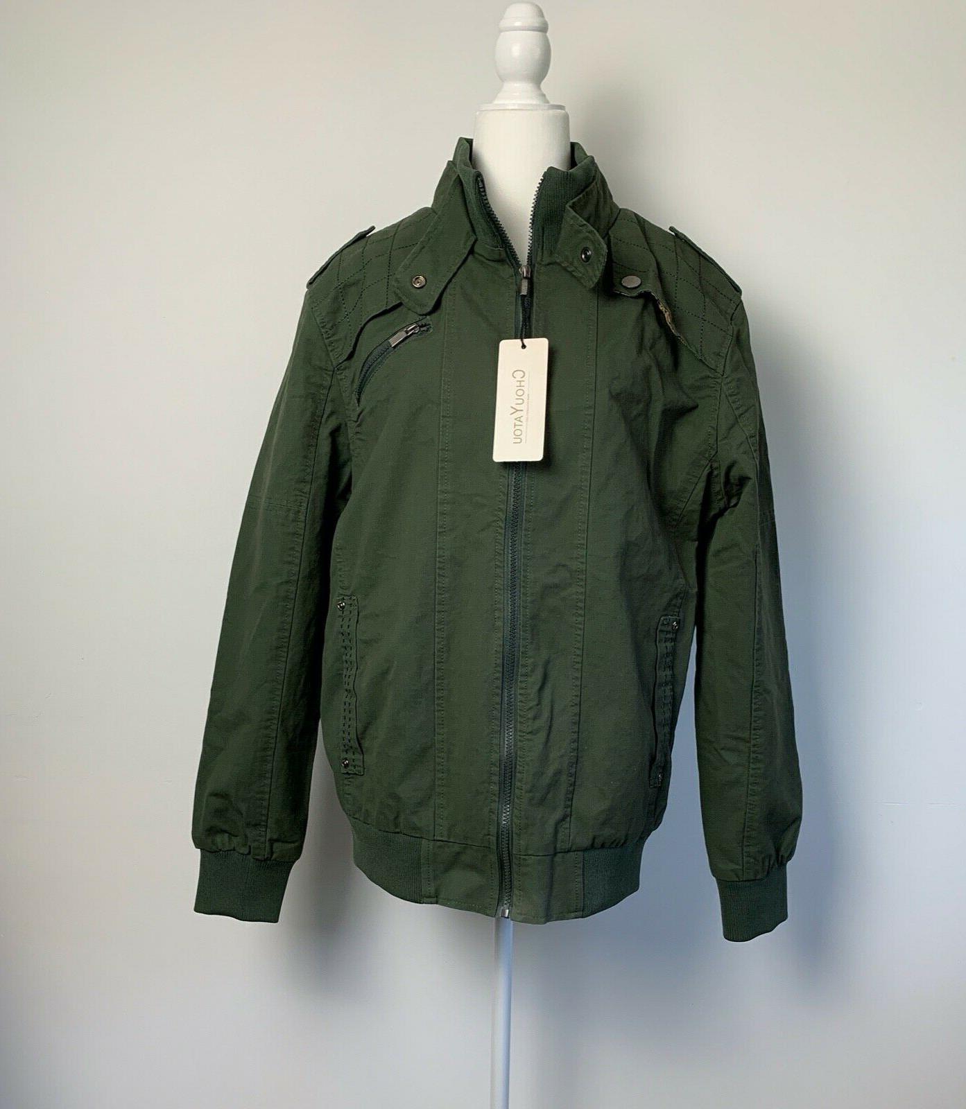 mens size xl jacket coat lined olive