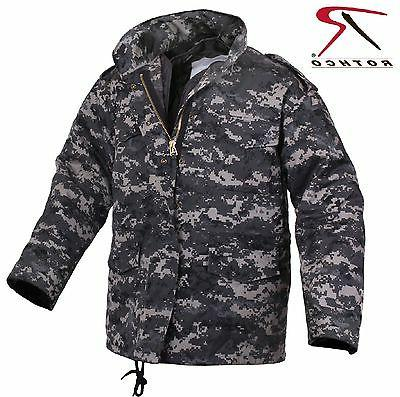 Mens Subdued Urban Digital Camo M-65 Field Jacket - Rothco C