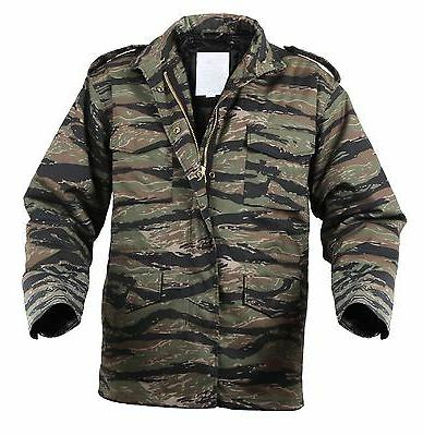 Mens Tactical Field Jacket Rothco M-65 Tiger Stripe Camoufla
