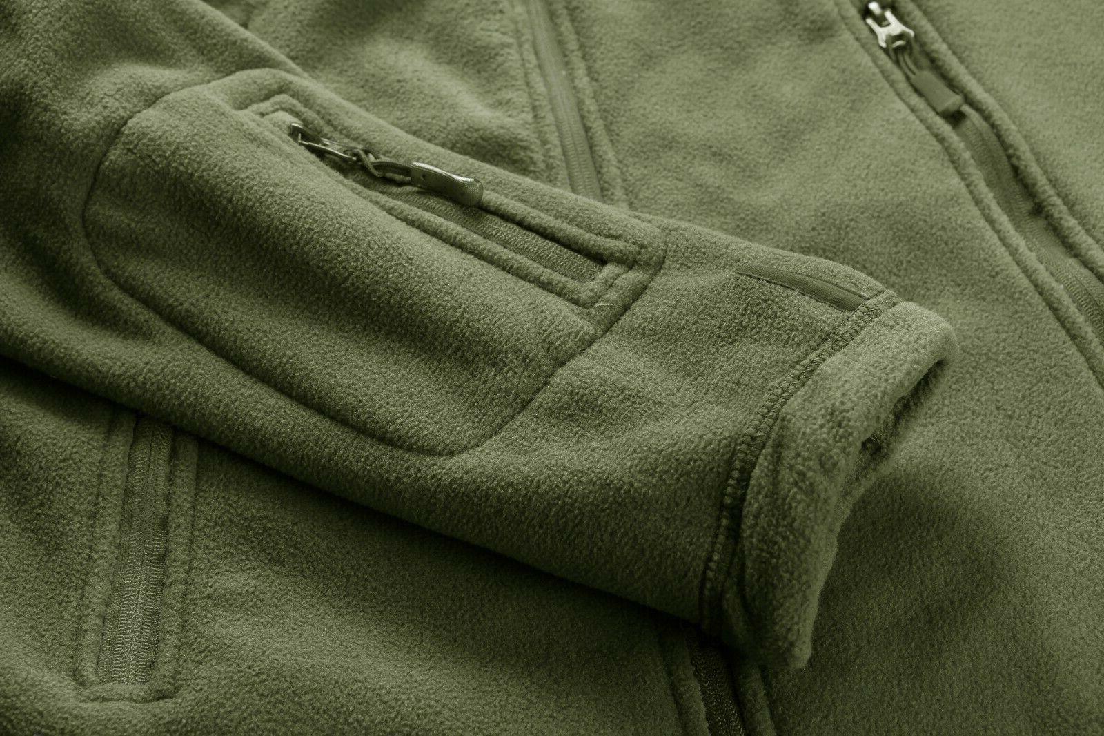 Fleece Lining Mens Jackets Military Tactical Coats Zip