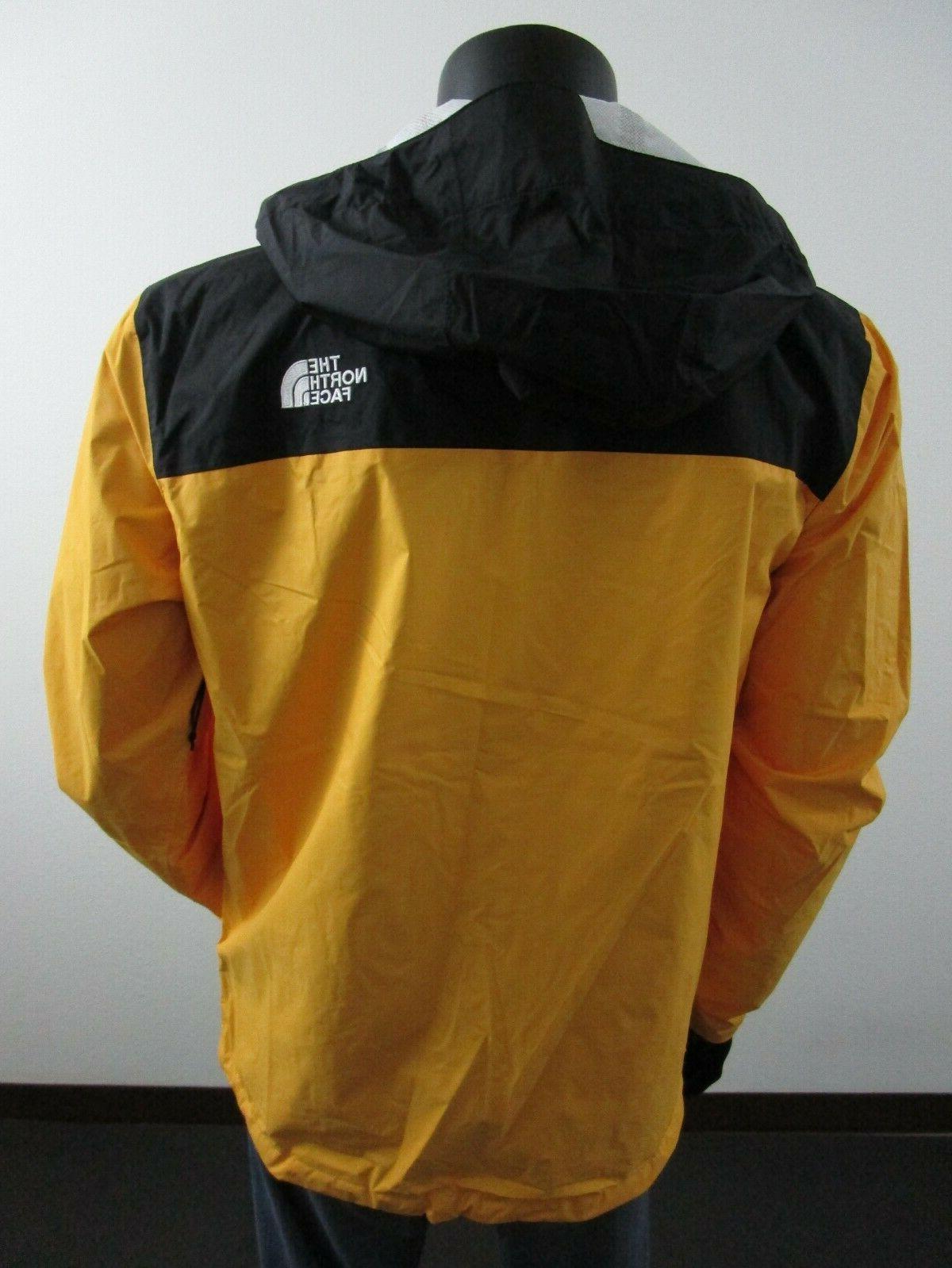 Mens Face Venture Waterproof Hooded Jacket - Yellow