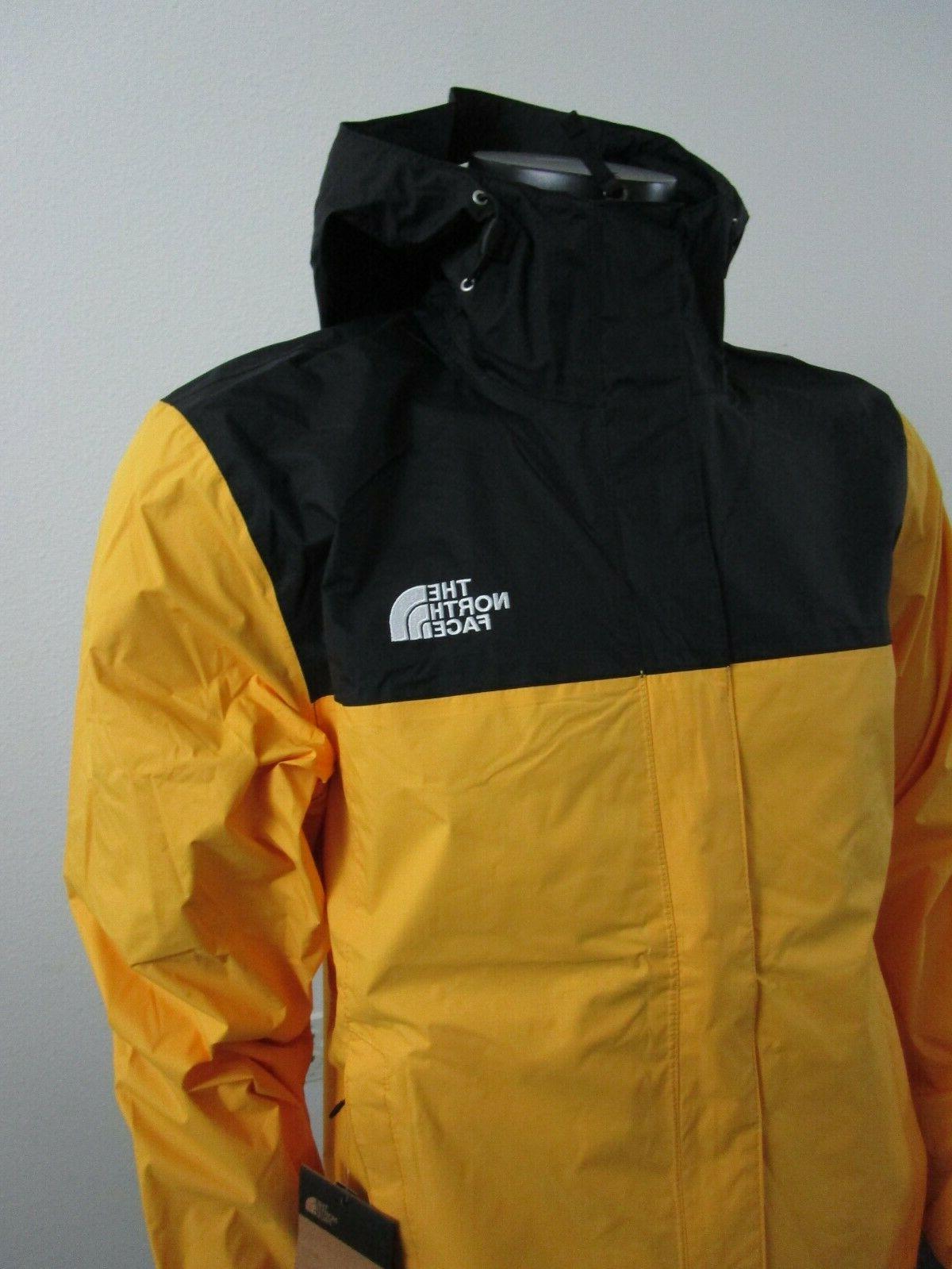 Mens Face Venture Hooded Rain Yellow