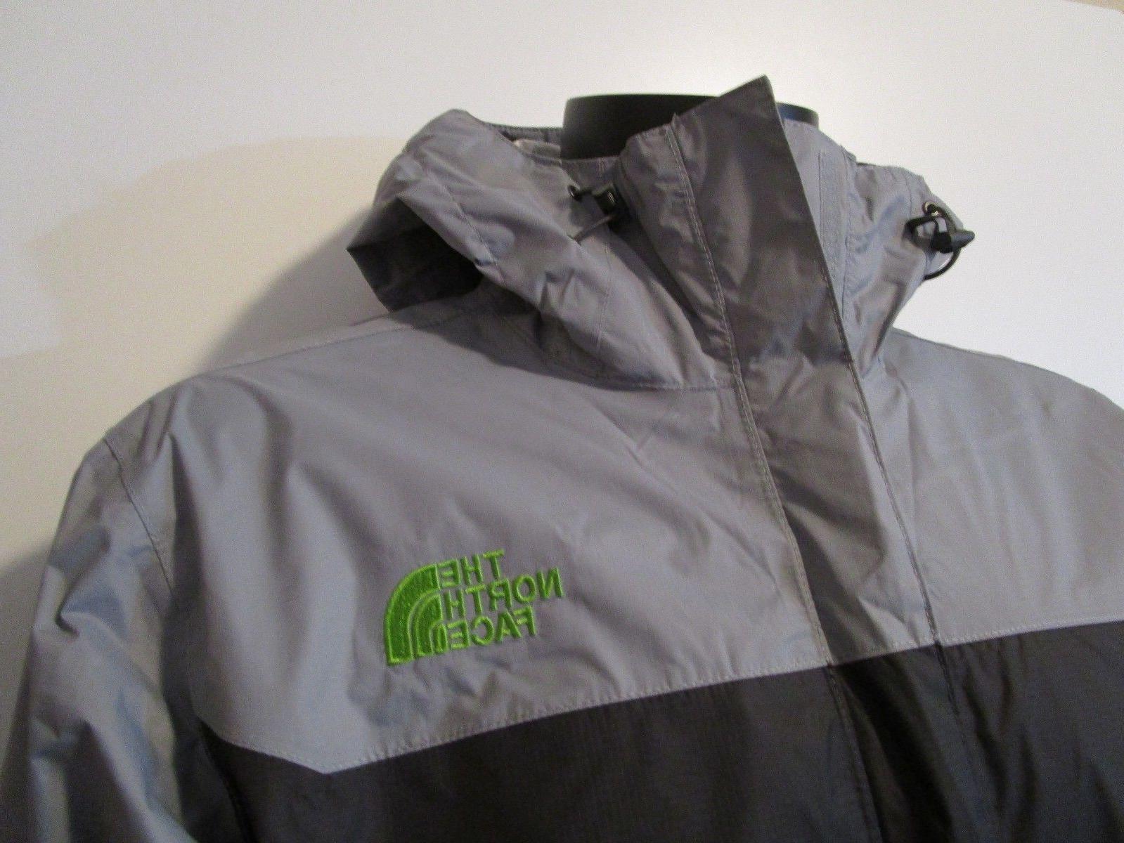 Mens TNF The Face Venture Dryvent Hooded Rain Jacket Grey