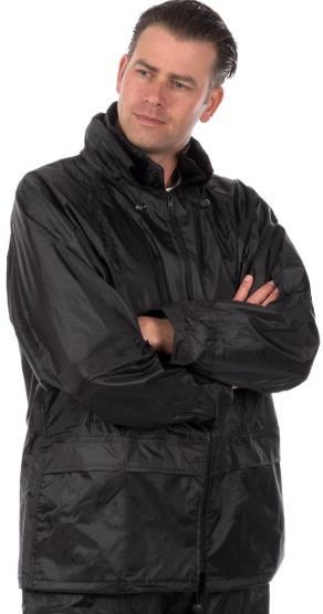 Mens US440BKRXL Classic Rain Jacket, Medium,Black,By Portwest