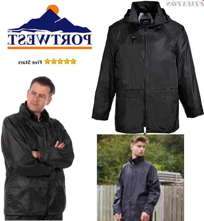 mens us440bkrxl regular fit classic rain jacket