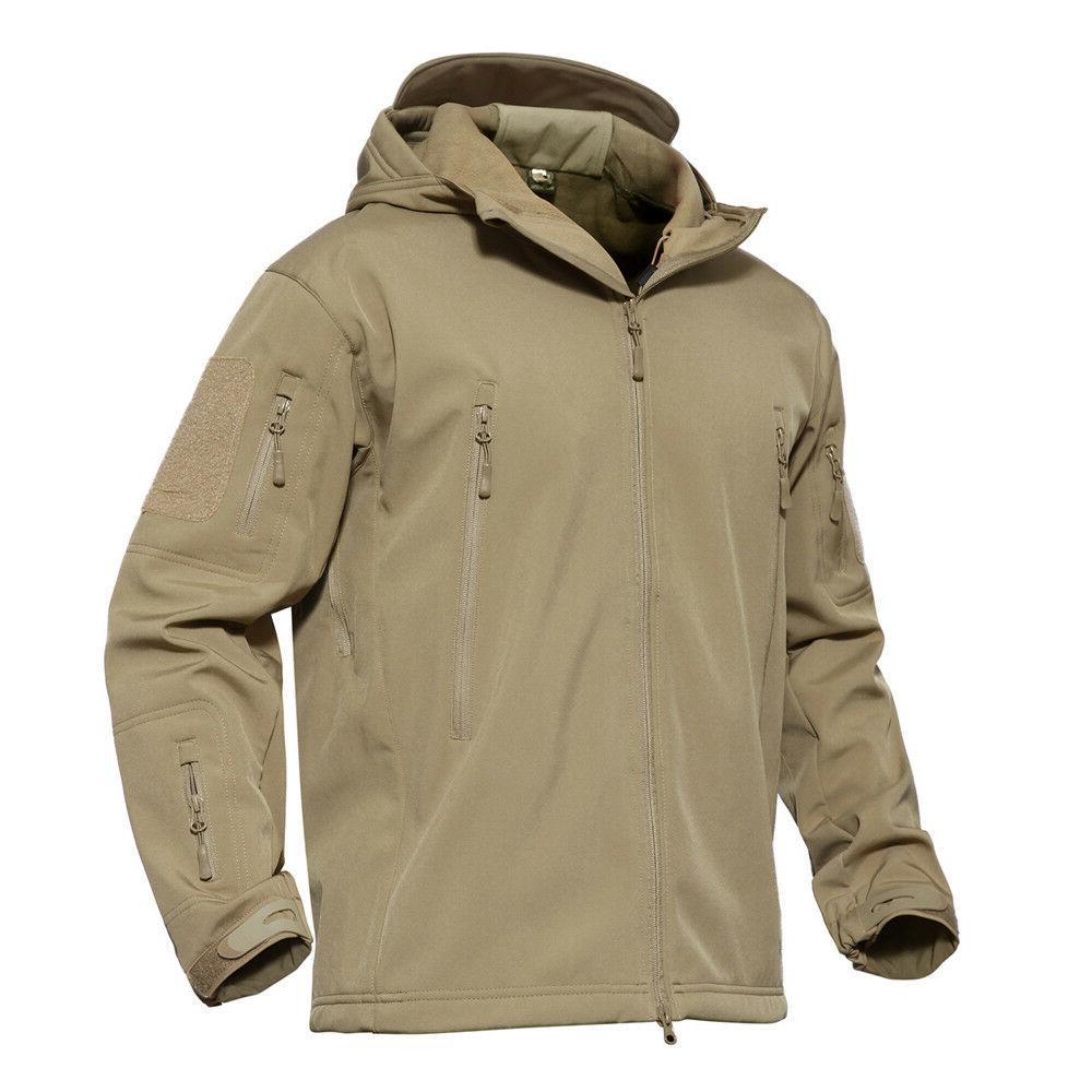 Mens Waterproof Military Tactical Coat Fleece Parka