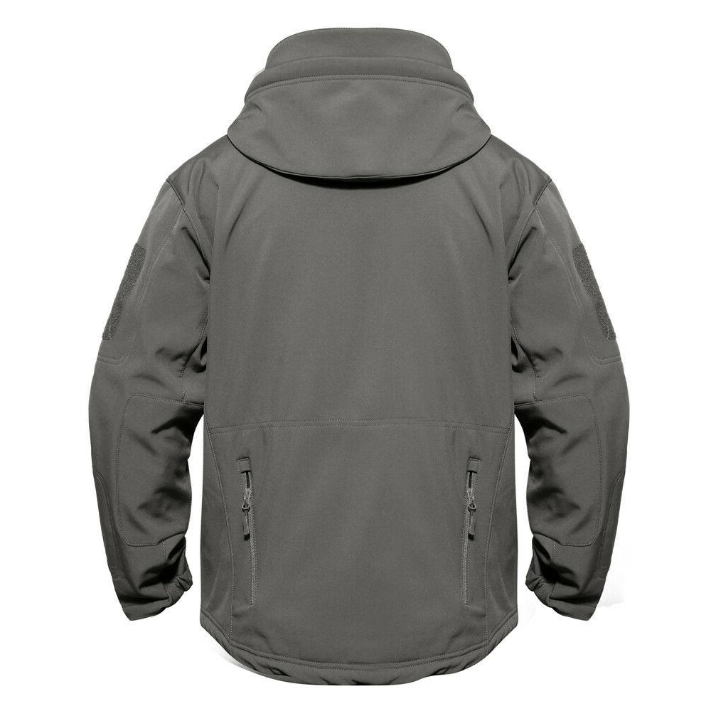 Mens Waterproof Jackets Military Tactical Thermal Coat Fleece