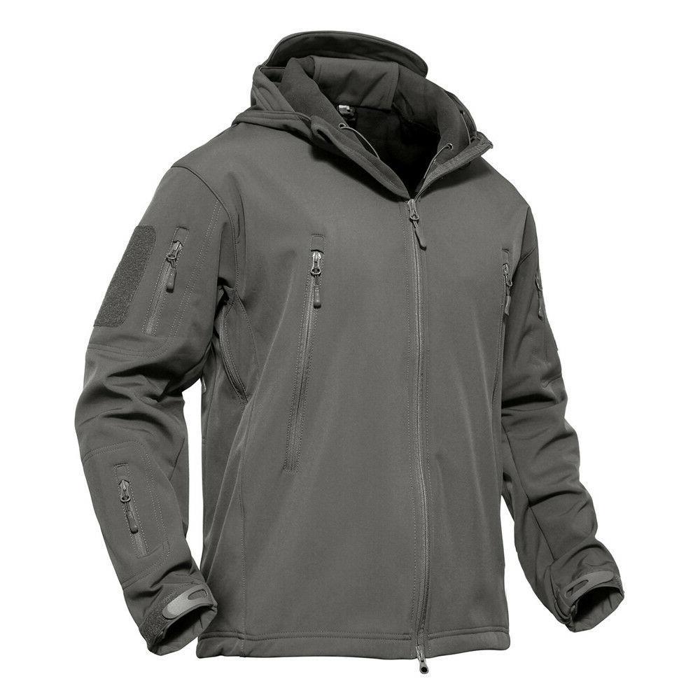 Mens Army Military Coat Fleece