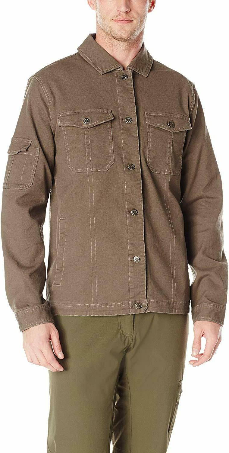 mens winter deadpoint jacket large mushroom brown