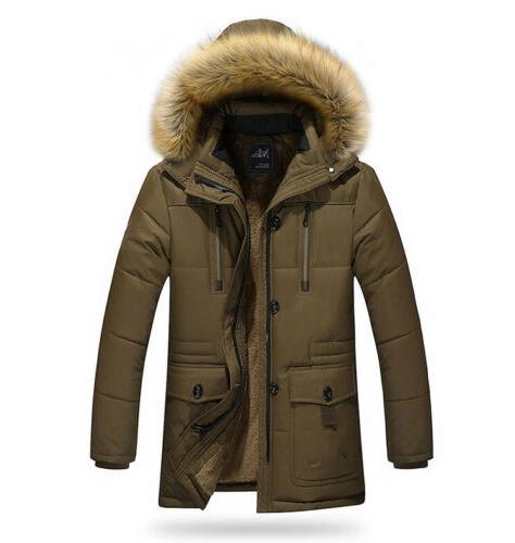 Mens Winter Jackets Hoods Slim Fit Big Tall