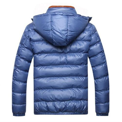Mens Winter Warm Down Jacket Snow Thick Hooded Puffer Coat