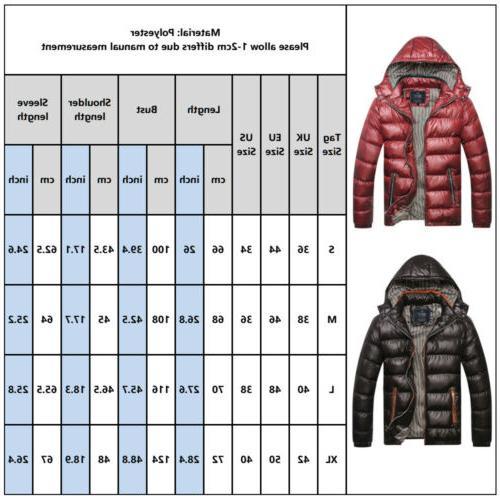 Mens Winter Duck Down Jacket Ski Jacket Snow Thick Coat Parka