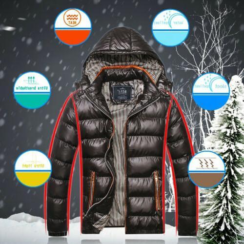 Mens Duck Down Jacket Ski Snow Coat Parka