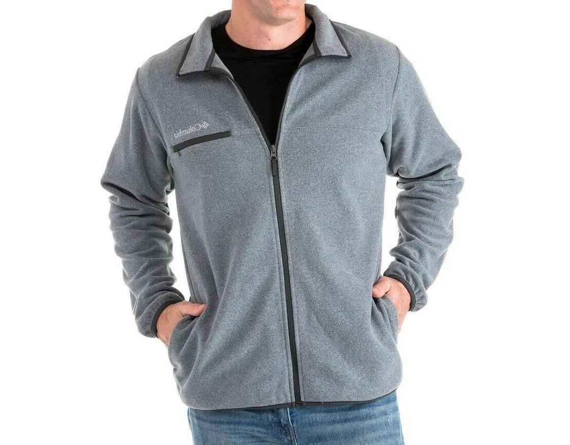Columbia Fleece Jacket Grey NWT Medium