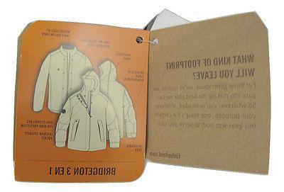 NEW! $248 3 Jacket ! M Black *2 Coats 1*