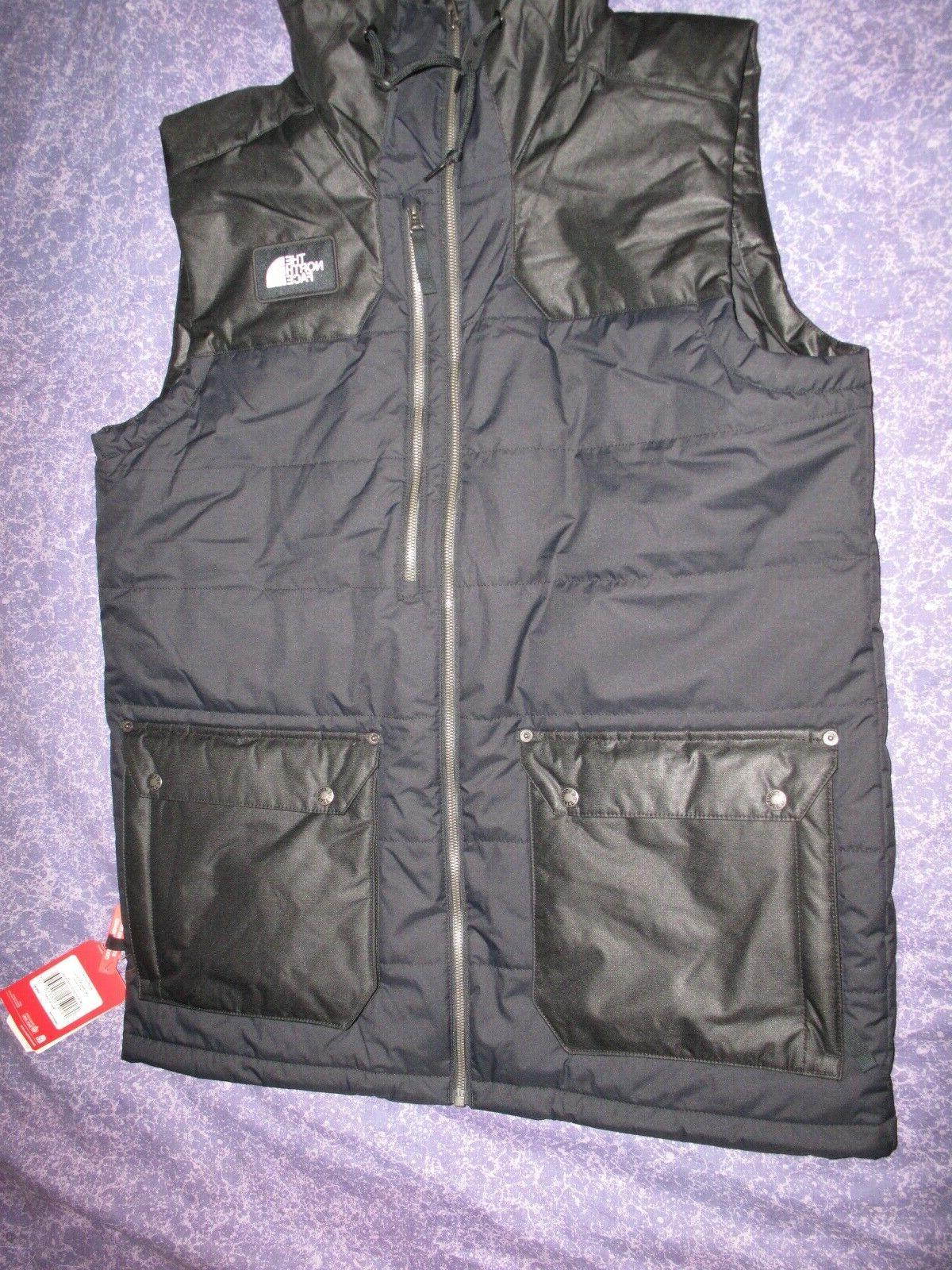 New Face Black Men's Size Large Vest Jacket