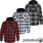 Burnside - New for 2017! Quilted Flannel Men's Full-Zip Hood