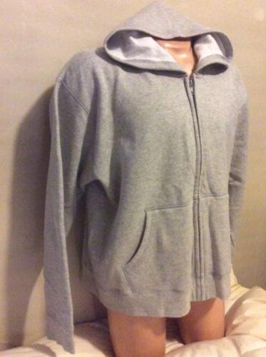 Hanes NEW Jacket 2XL Men Fleece Gray Metal Sweatshirt