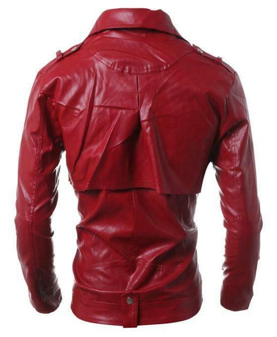 New Leather Jacket Biker Motorcycle jackets coats size