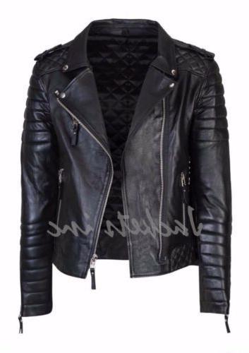 New Leather Jacket BROWN fit Biker jacket
