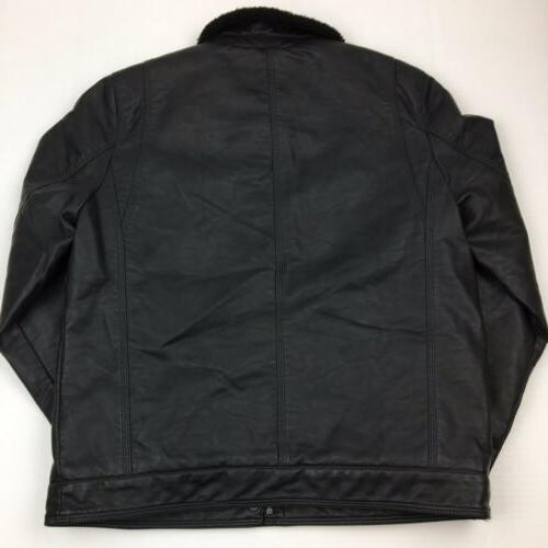 NEW Leather Jacket Lined Black Medium