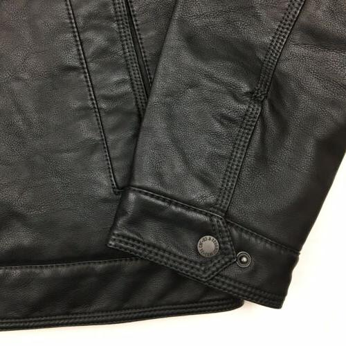 NEW Levi's Leather Jacket Sherpa