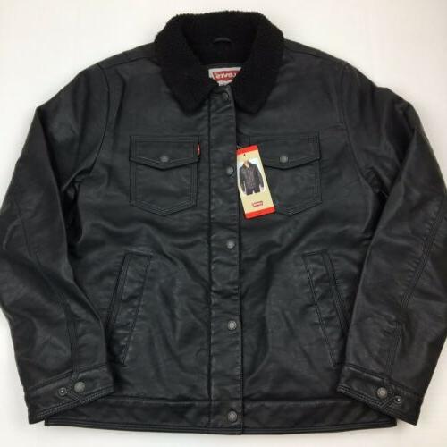 new men s levi s faux leather