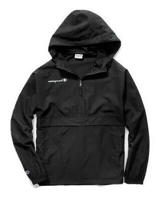 new men s packable half zip hooded