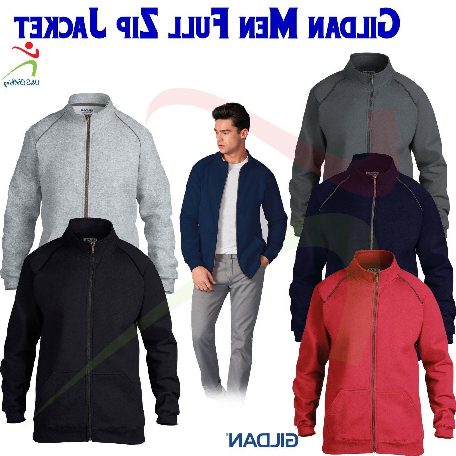 Gildan New Men's Premium Ringspun Cotton Blend Full-Zip Jack