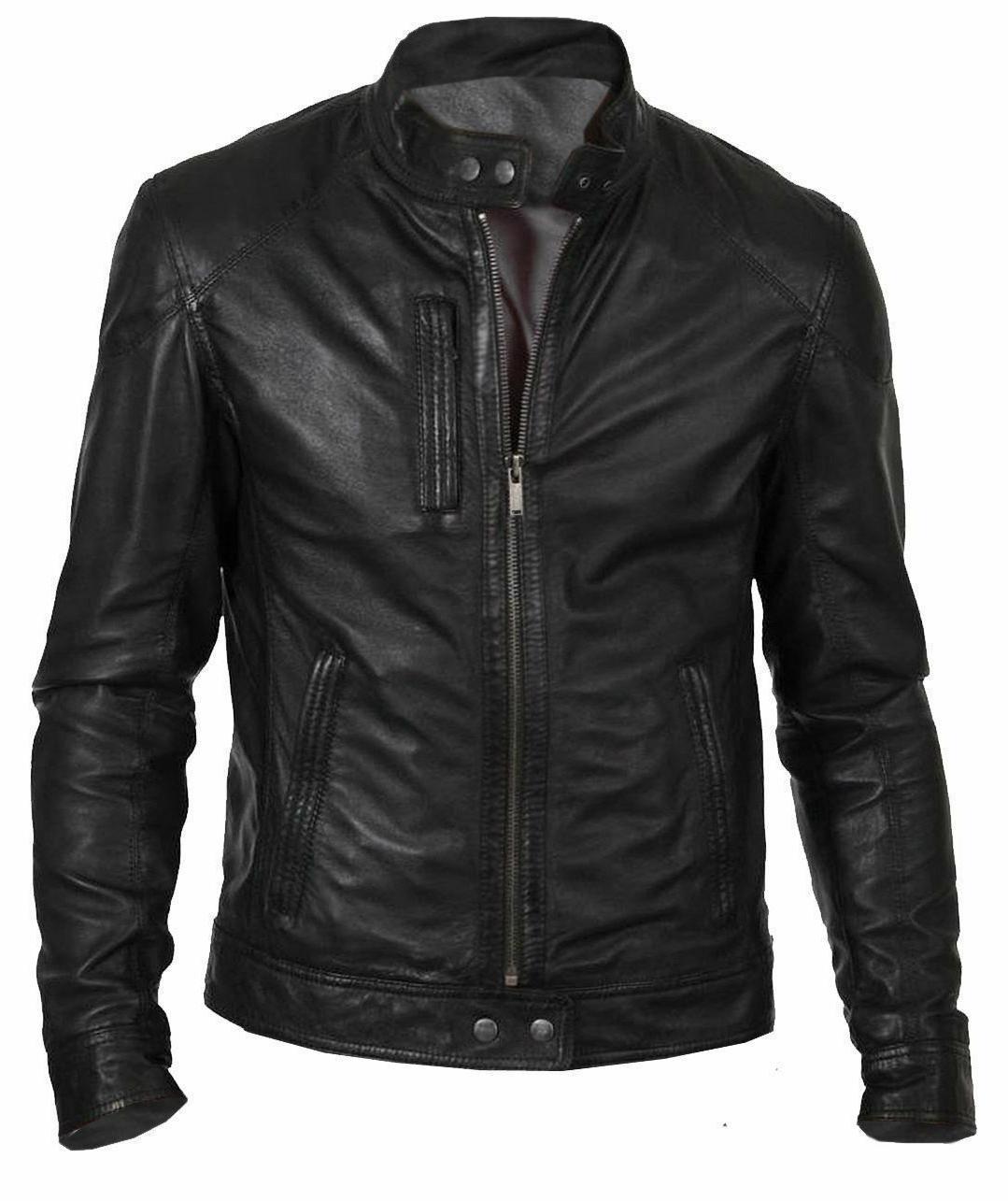 new mens bomber vintage black genuine leather