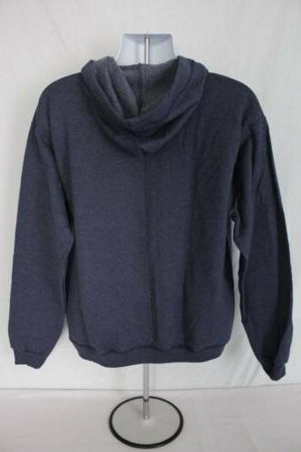 NEW Hooded XL Full Hoodie Hanes Sweatshirt Pockets Navy Blue
